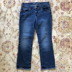 Old Navy Raw Edge Cropped Jeans